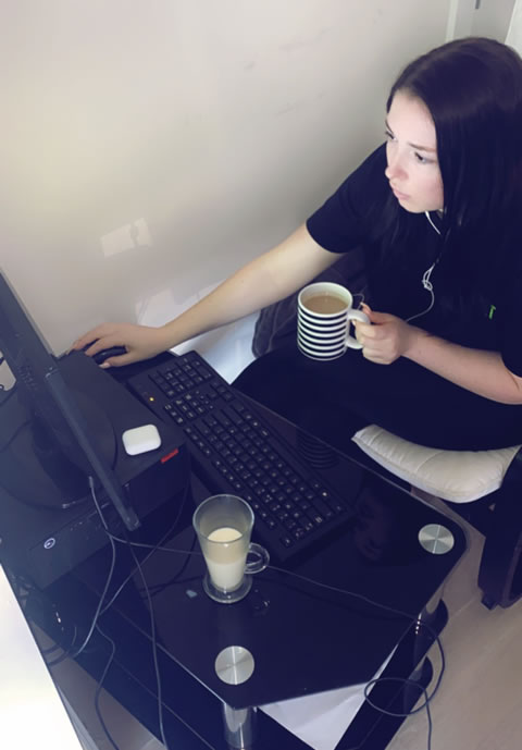 Beth Berry, Sales Agent at ResQ, working from home.