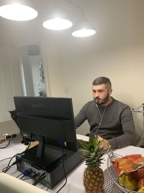 Harry Sturdy, Sales Agent at ResQ working from home.