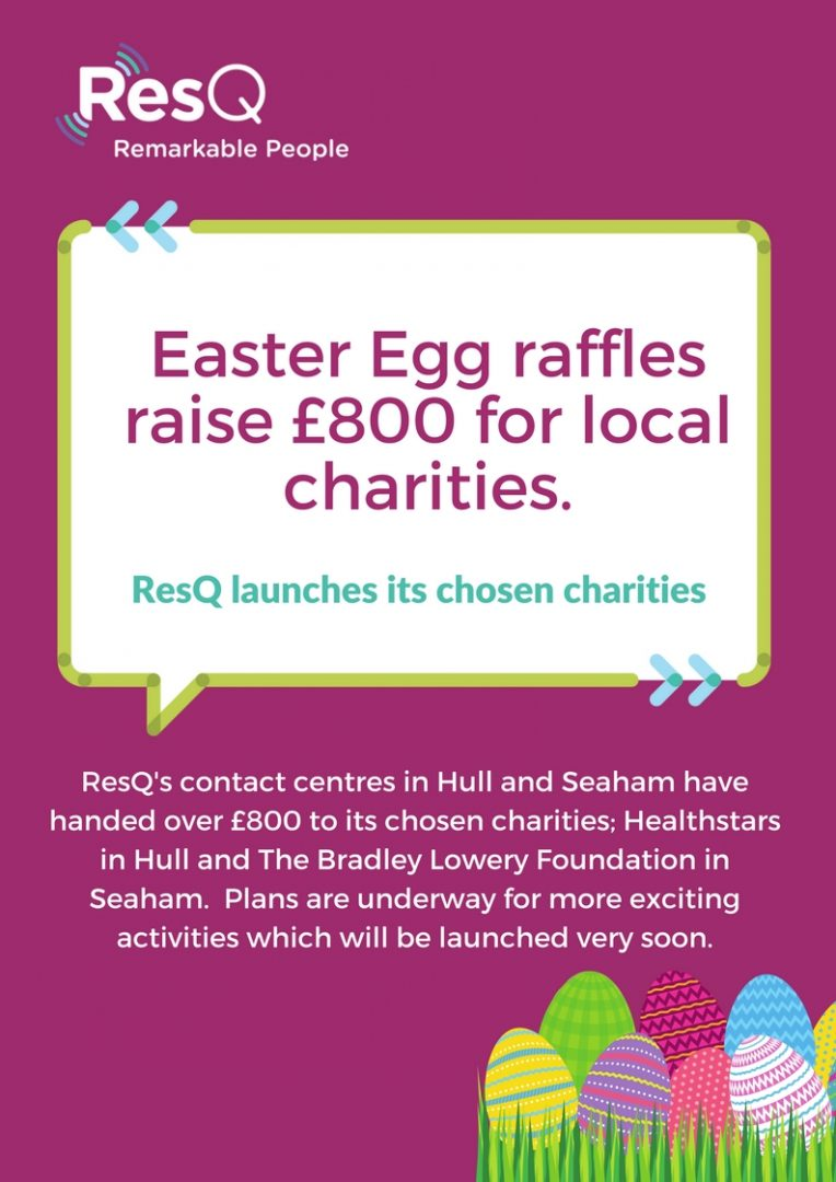 Easter Egg raffles raise £800 for local charities.